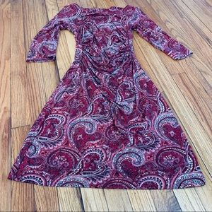 A-line fitted waist stretchy dress